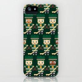 Super cute sports stars - Ice Hockey Green iPhone Case