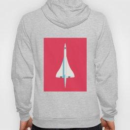 Concorde Supersonic Jet Airliner - Crimson Hoody