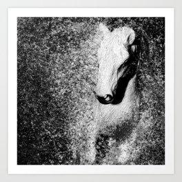 Of Winter Horse Art Print