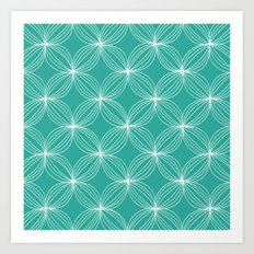 Star Pods - Aqua Art Print
