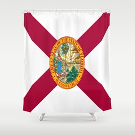 Flag of Florida-floridian,floridan,Miami,Tempa,Orlando,hispanic,beach,sun,jacksonville,holidays,warm Shower Curtain