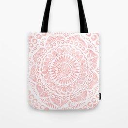 Blush Lace Tote Bag