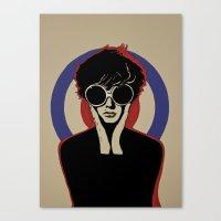 mod Canvas Prints featuring Mod by LunaLunaRiotGirl