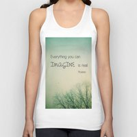 imagine Tank Tops featuring Imagine by Olivia Joy StClaire