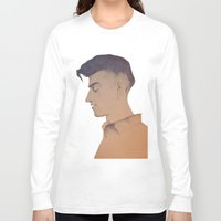 alex turner Long Sleeve T-shirts featuring Alex Turner by tangledribbons