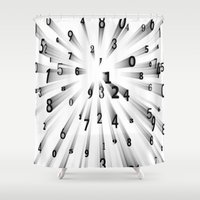 numbers Shower Curtains featuring lucky numbers by store2u