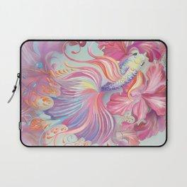 Pastel Fish Drawn Laptop Sleeve