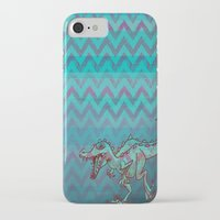 dino iPhone & iPod Cases featuring dino  by Bunny Noir