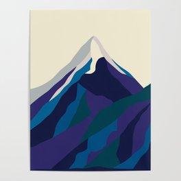 Mount Everest in Blue Poster