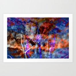 Floral Cloud Spectacle Art Print