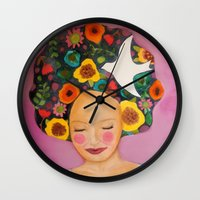florence Wall Clocks featuring florence by sylvie demers