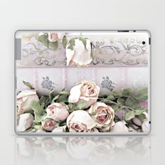 Shabby Chic Dreamy Pink Roses Cottage Floral Decor Laptop & iPad Skin