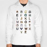anaconda Hoodies featuring Star W. alphabet by Fabian Gonzalez