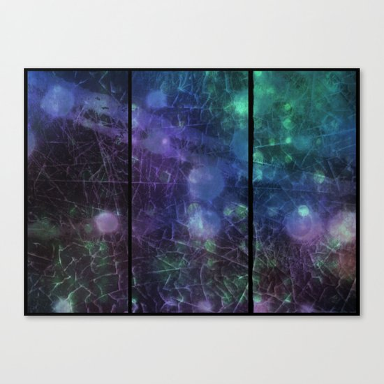 Purple,  Green and Blue Canvas Print
