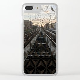 LIFE TRACKS Clear iPhone Case
