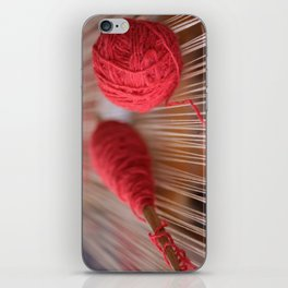 Loom and spindle craft iPhone Skin
