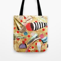 dessert Tote Bags featuring Watercolor Dessert by Ruth Fitta Schulz