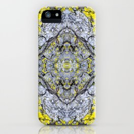 Yellow and Grey Abstract Pattern iPhone Case
