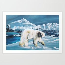 Arctic King Art Print