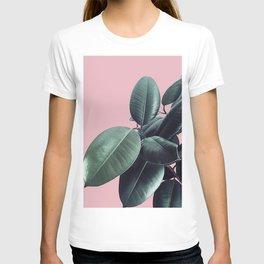 Ficus Elastica #14 #CoralBlush #decor #art #society6 T-shirt