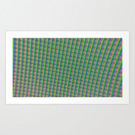 Pixels Art Print
