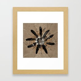native vintage mandala Framed Art Print