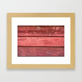 Red rusty wooden background Framed Art Print