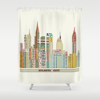 atlanta Shower Curtains featuring Atlanta by bri.buckley