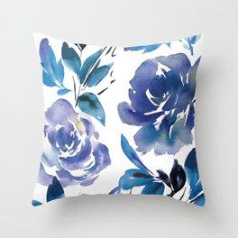 Royal Blue Garden 01 Throw Pillow