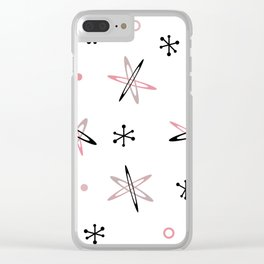 Atomic Era Space Age Pink White Clear iPhone Case