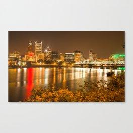 portland skyline Canvas Print