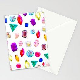 Rhinestone Reverie in White Stationery Cards