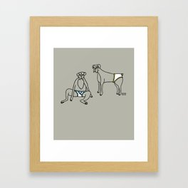 Boxers and Briefs Framed Art Print