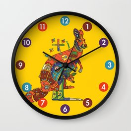 Kangaroo, cool wall art for kids and adults alike Wall Clock