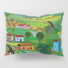 Santa Barbara Wine and Cheese Pillow Sham