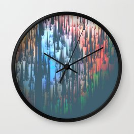 Raining Colors Wall Clock
