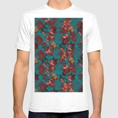 Abstract 1 White MEDIUM Mens Fitted Tee