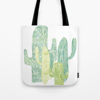 cacti Tote Bags featuring Cacti by YOKO.home