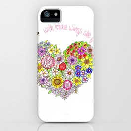 With brave wings, she flies iPhone Case