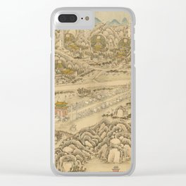 Panoramic view of the Ming Tombs (c. 1736) Ming shi san ling tu Clear iPhone Case