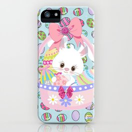 Easter Bunny Easter Basket iPhone Case