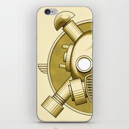 Art Deco Gasmask Crossbones iPhone Skin
