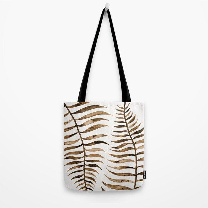 Palm Leaf – Sepia Tote Bag