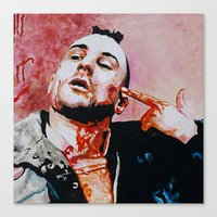 taxi driver Canvas Prints featuring Taxi driver by BaconFactory
