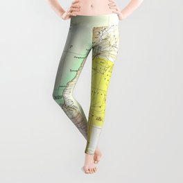Old 27AD Christ Palestine Map Leggings