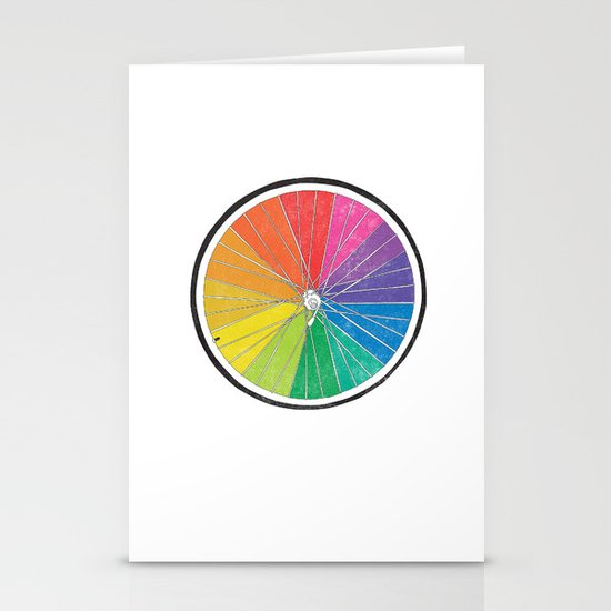Color Wheel (Society6 Edition) Stationery Cards