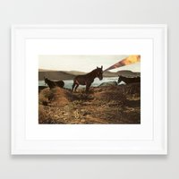 pony Framed Art Prints featuring PONY by KELLY SCHIRMANN