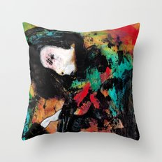 Trapped in the Thought Prison Throw Pillow