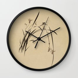 Singing Orchid Wall Clock