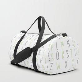Alphabet - Green Duffle Bag